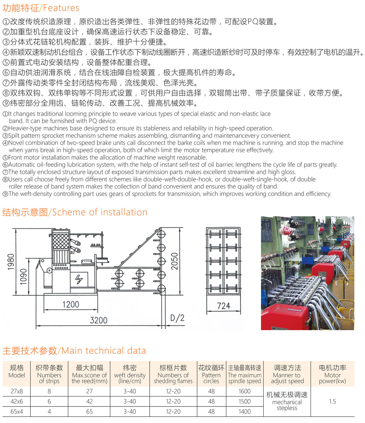KGF-755GA 高速无梭织带机 High Speed Shuttleless Needle Loom
